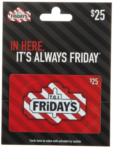 "Purchase a discounted T.G.I. Fridays gift card and enjoy more great food for less money! Established in in NYC, with the intention to ""make every day a Friday and every hour happy', they offer delicious food and beverages in a relaxed and inviting atmosphere that is sure to please!"